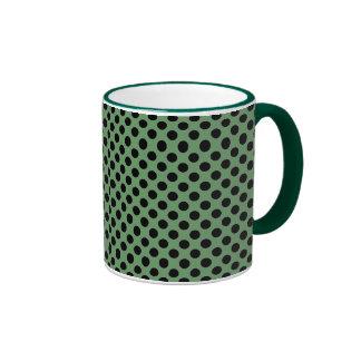 Green with black dot Mug