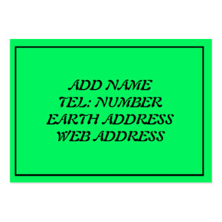 Green with Black Frame Business Card Templates