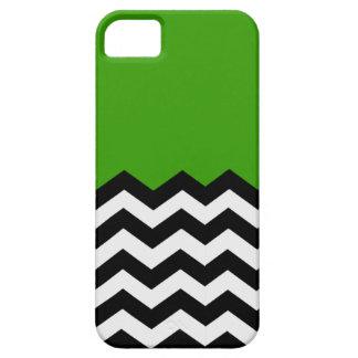 Green with Black & white Chevron Patern Phone Cove iPhone 5 Case