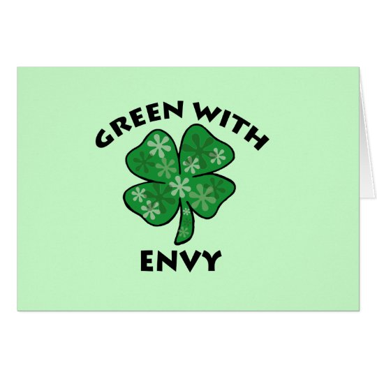green with envy card
