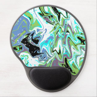Green With Envy Fluid Abstract Painting Gel Mouse Pad