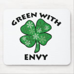 green with envy mouse mat