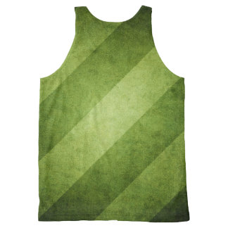 Green with Envy Striped Tank Top All-Over Print Tank Top