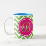 Green With Envy Two-Tone Coffee Mug