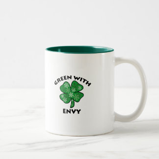 green with envy Two-Tone coffee mug