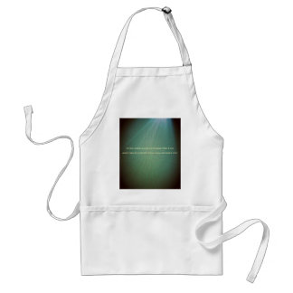Green With Light Beam Sun Quote Adult Apron