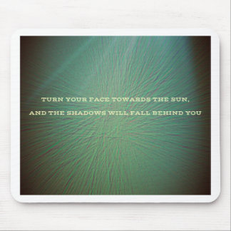 Green With Light Beam Sun Quote Mouse Pad