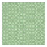 Green With Simple White Dots Poster