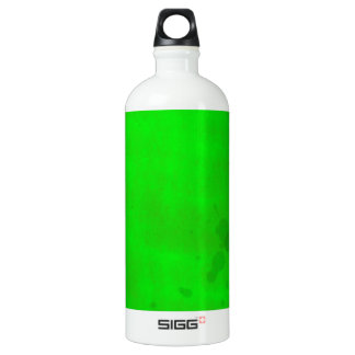 Green with water stains aluminum water bottle