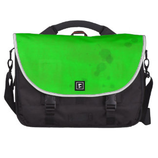 Green with water stains laptop computer bag