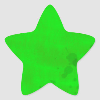 Green with water stains star sticker