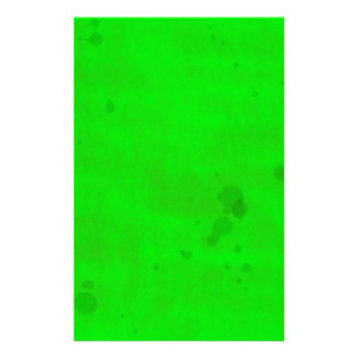 Green with water stains stationery