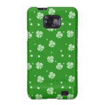 Green with White Shamrocks Case Samsung Galaxy S2 Cases
