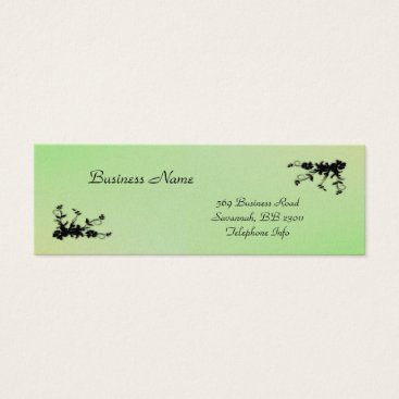 Professional Business Green with Yellow Kiss Elegant Business Card