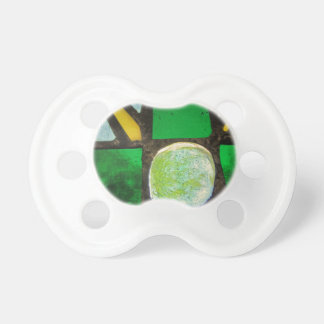 Green, with yellow stained glass pacifier