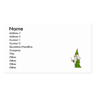 Green Wizard Business Card Template