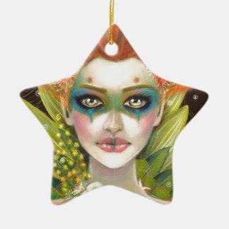 Green Woman Ceramic Ornament