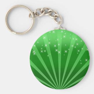 Green Wonderland Basic Round Button Keychain