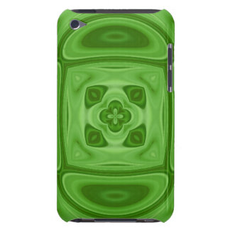 Green wood abstract pattern iPod touch cases