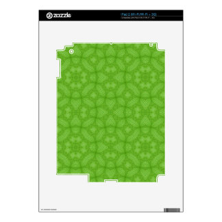 Green wood abstract pattern decals for the iPad 2