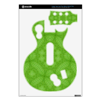 Green wood abstract pattern guitar hero decal