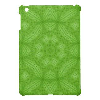 Green wood abstract pattern iPad mini covers