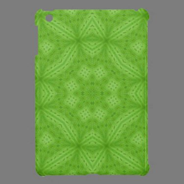 Green wood abstract pattern iPad mini covers