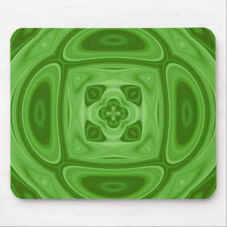 Green wood abstract pattern mouse pad