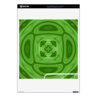 Green wood abstract pattern PS3 slim console skin