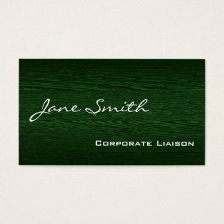 Green Wood Modern Standard Business Cards