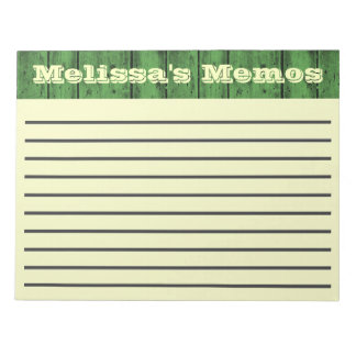 Green Wood Planks Large Memo Pad