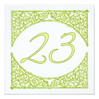 Green Wood Screen Table Number 23