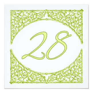 Green Wood Screen Table Number 28