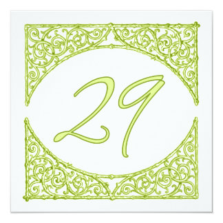 Green Wood Screen Table Number 29