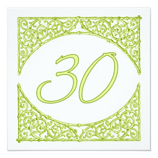 Green Wood Screen Table Number 30