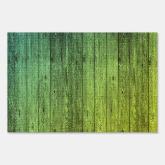 green wood sign