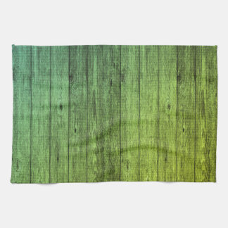 green wood towel