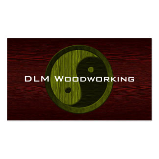Green Wood Yin Yang Contractor Business Card