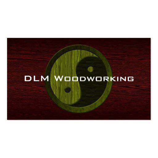 Green Wood Yin Yang Contractor Business Card