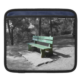 Green Wooden Bench 2 Sleeve For iPads