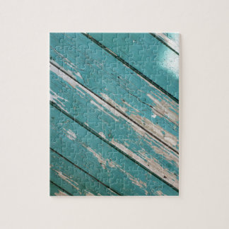 Green wooden boards with blade paint jigsaw puzzle