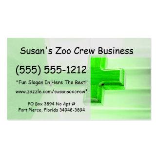 Green wooden cross photograph image church business card