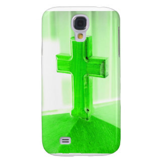 Green wooden cross photograph image church galaxy s4 cover