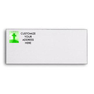 Green wooden cross photograph image church envelopes