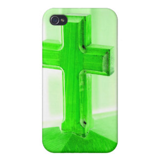 Green wooden cross photograph image church iPhone 4 cover