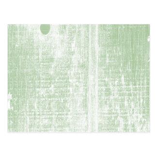 Green Woodgrain Effect Postcard