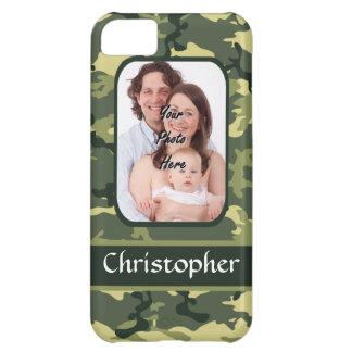 Green woodland camouflage iPhone 5C case