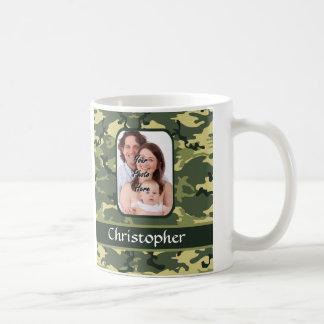 Green woodland camouflage coffee mug