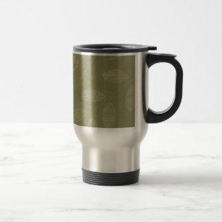 Green Woodland Leaves Paint script Travel Mug