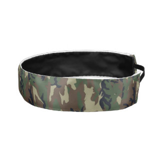 Green Woodland Military Camouflage Pattern Athletic Headband